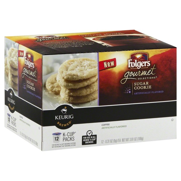 Folgers Sugar Cookie Coffee K-Cup Packs