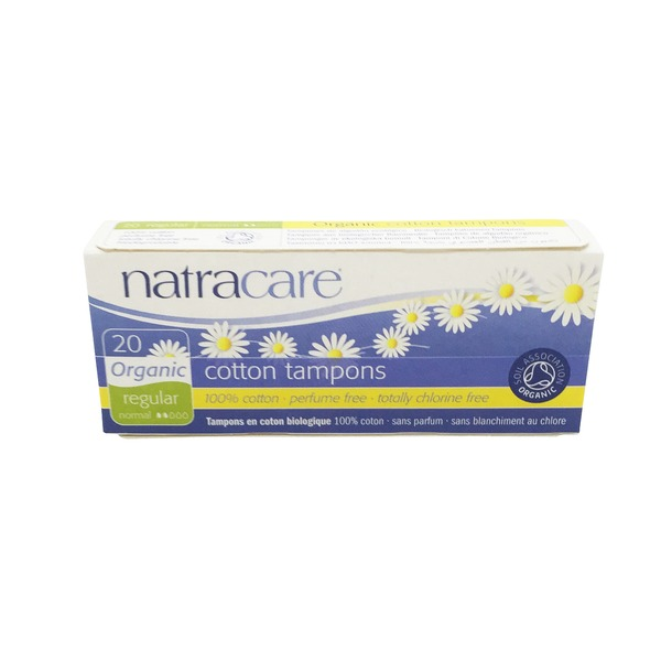 Natracare Organic Regular Cotton Tampons No Applicator