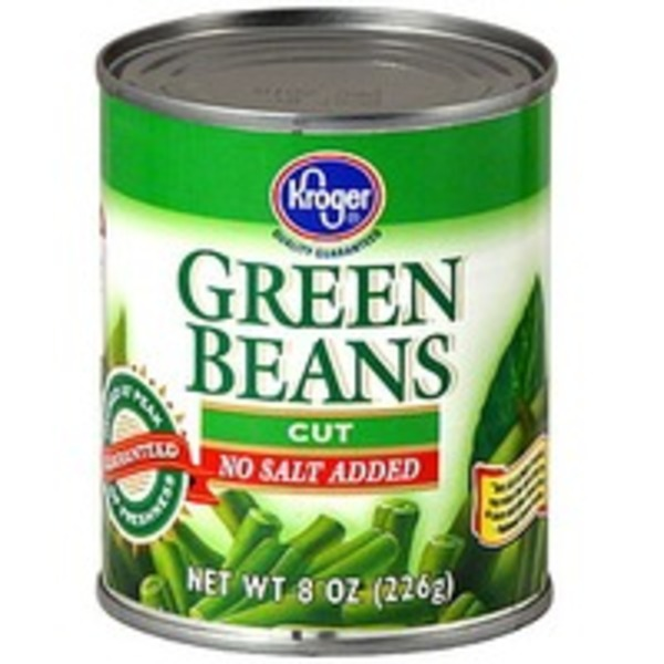 Kroger Green Beans Cut No Salt Added