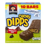 Quaker® Chewy® Dipps® Chocolate Chip Granola Bars 10.9 oz. Box
