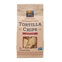 365 Unsalted White Corn Tortilla Chips