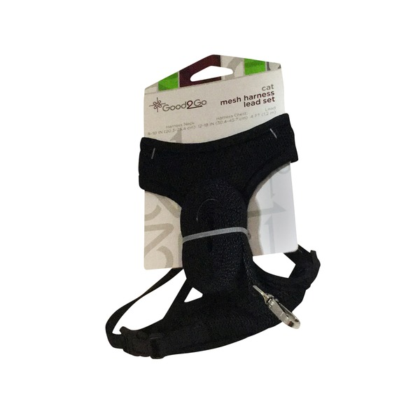 Good 2 Go Black Cat Mesh Harness Lead Set