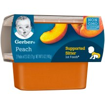 Gerber 1st Foods Peaches Baby Food, 2.5 oz Tubs, 2 Count