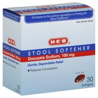 H-E-B Stool Softener Softgels