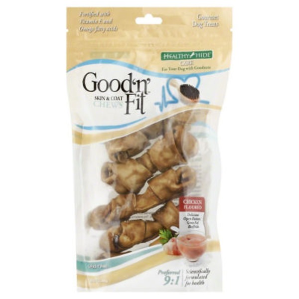 Healthy Hide Chews, Skin & Coat Chicken Flavored
