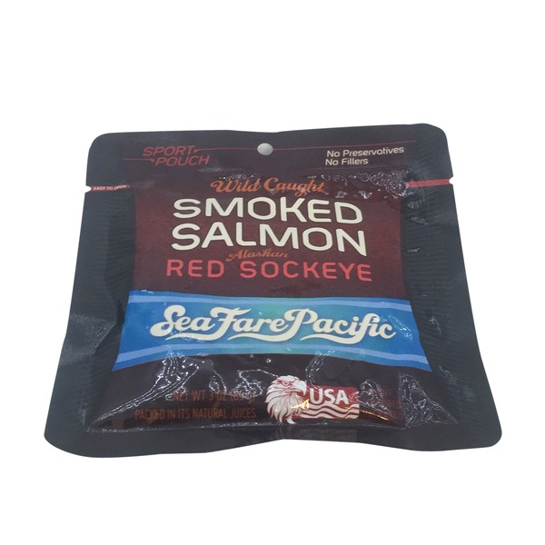 SeaFare Pacific Wild Caught Smoked Salmon Alaskan Red Sockeye