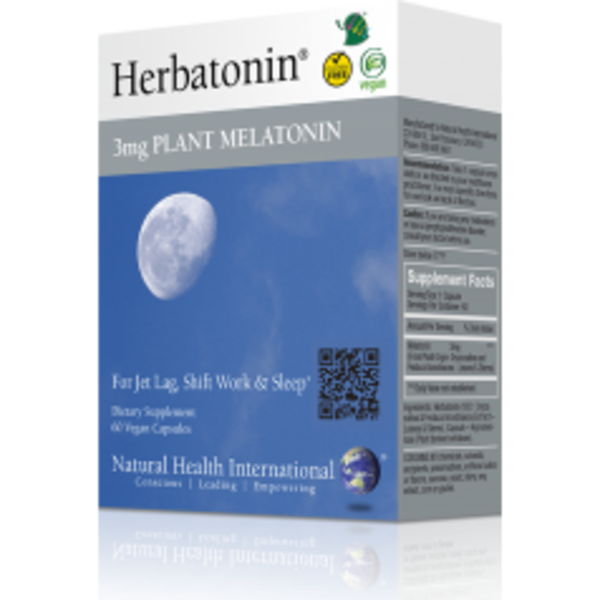 Natural Health International Herbatonin 3 Mg Plant Melatonin Vegan Capsules