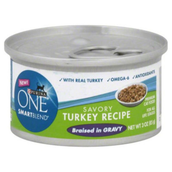Purina One Cat Wet SmartBlend Savory Turkey Recipe in Gravy Cat Food