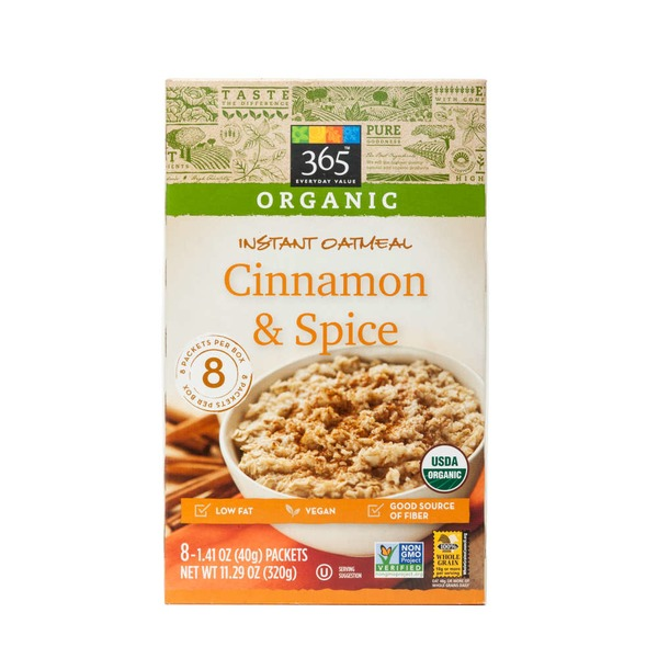 365 Cinnamon & Spice Instant Oatmeal
