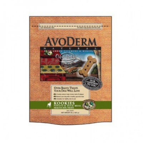 AvoDerm Natural Kookies  Potato & Duck Meal Healthy Oven Baked Treats For Dogs