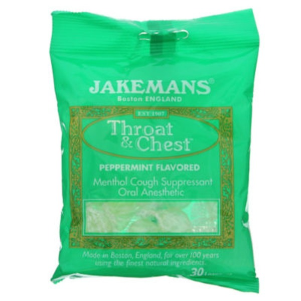 Jakemans Peppermint Menthol Throat Lozenges