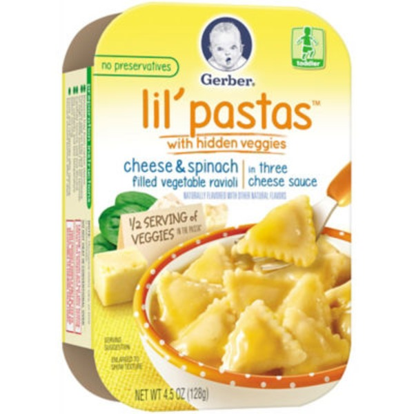 Gerber Graduates Lil' Pastas Cheese & Spinach with Hidden Veggies Vegetable Ravioli