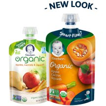 Gerber Organic 2nd Foods Baby Food, Apples, Carrots & Squash, 3.5 oz Pouch