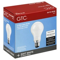 GTC 3 Way Light Bulbs Soft White 39 79 100 W