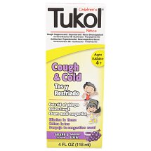 Tukol Childrens Cough and Cold Medicine Grape 4 fl oz