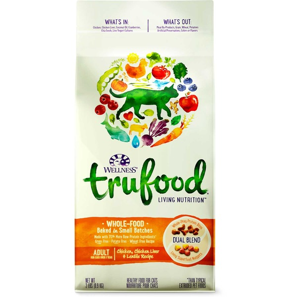 Wellness Tru Food Chicken Chicken Liver & Lentils Adult Cat Food 2 Lbs.