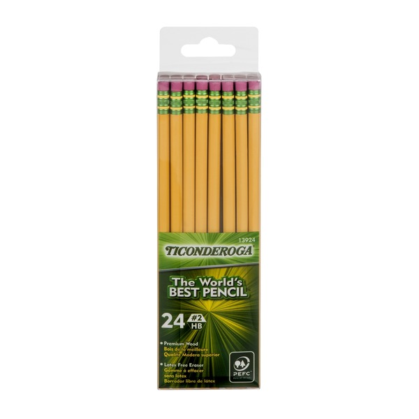 Ticonderoga Noir Pencils - 24 CT