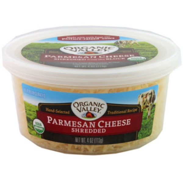 Organic Valley Parmesan Shredded Cheese