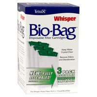 Tetra Whisper Bio Bag Disposable Filter Cartridges Medium Pack Of 3 Cartridges