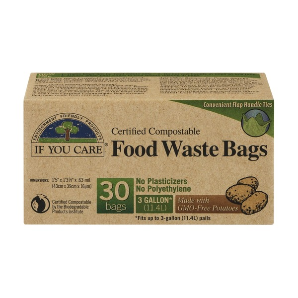 If You Care Certified Compostable Food Waste Bags 3 Gallon - 30 CT