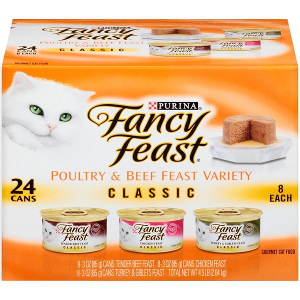 Fancy Feast Classic Poultry & Beef Collection Cat Food