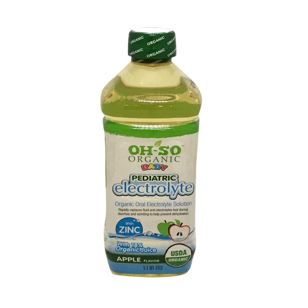 Oh So Electrolyte Solution, Pediatric, Apple Flavor
