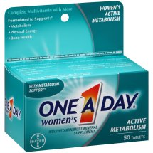 One A Day Women's Active Metabolism Multivitamin Tablets, 50 Count