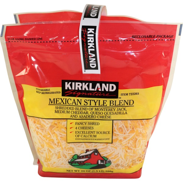 Kirkland Signature Shredded Mexican Blend Cheese