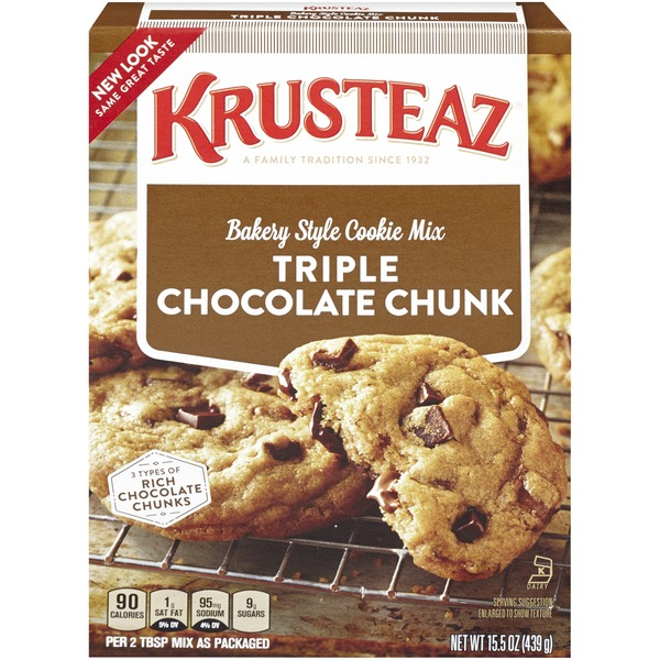 Krusteaz Triple Chocolate Chunk Bakery Style Cookie Mix