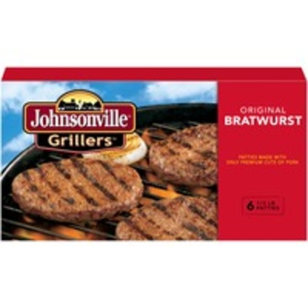 Johnsonville Original Bratwurst Patties 6ct (102031) Grillers