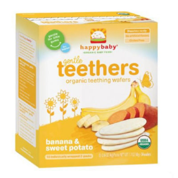 Happy Baby/Family Organic Sweet Potato & Banana Teething Wafers