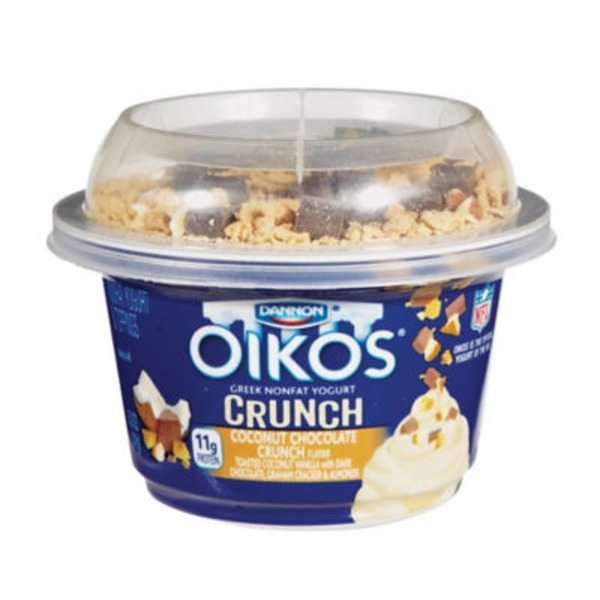 Oikos Crunch Greek Coconut Chocolate Crumble Nonfat Yogurt