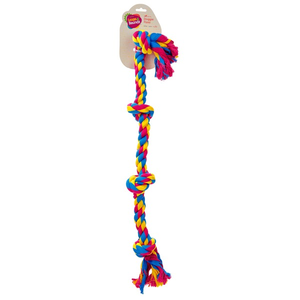 Leaps & Bounds Large Color 4 Knot Rope Tug