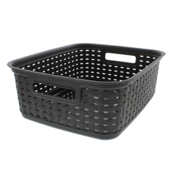 Sterilite Short Weave Basket Espresso Brown