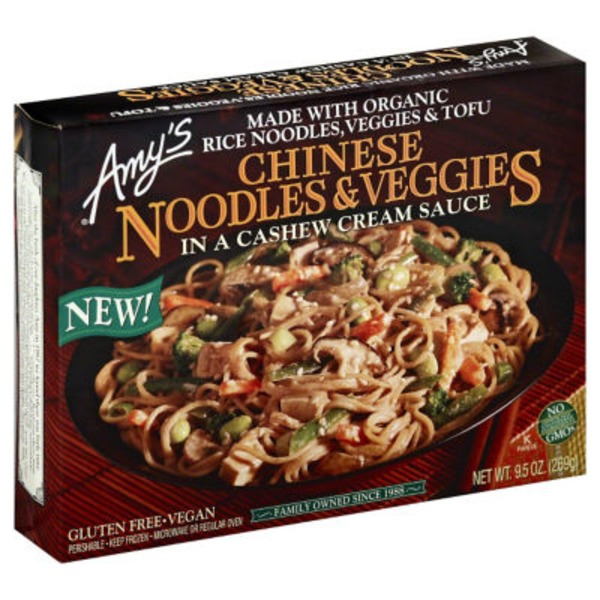Amy's Chinese Noodles and Veggies In Cashew Cream Sauce