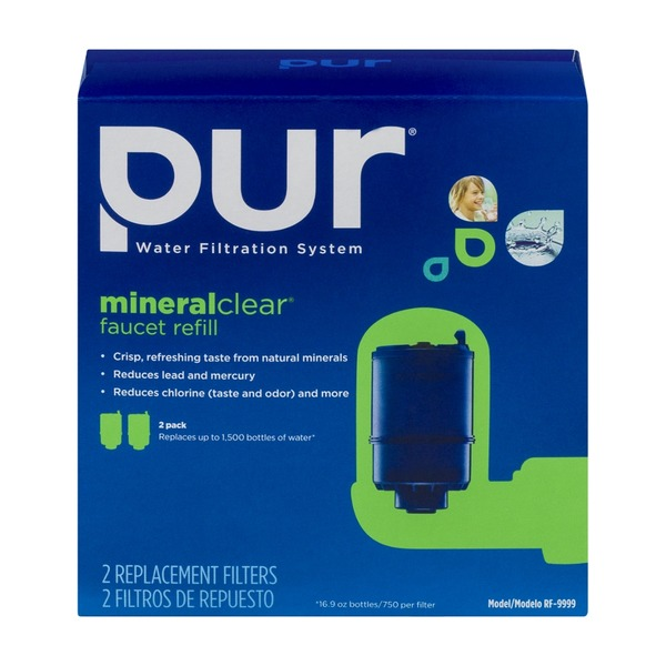 Pur Water Filtration System Mineral Clear Faucet Refill - 2 CT