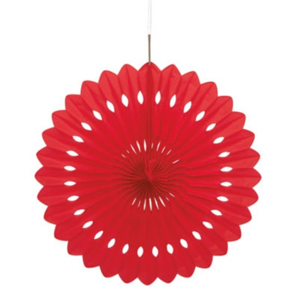 Unique 16 Inch Red Decorative Fan