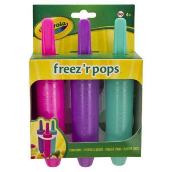 Crayola Freez'r Pops Popsicle Molds- 3 CT