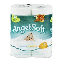 Angel Soft Bathroom Tissue Unscented Regular Rolls - 4 CT
