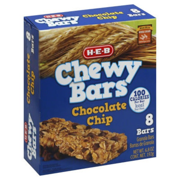 H-E-B Chewy Bars Chocolate Chip