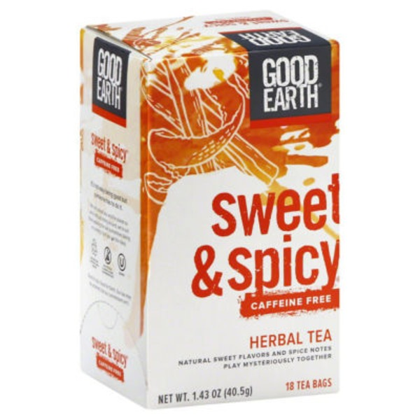 Good Earth Sweet & Spicy Caffeine Free Herbal Tea Bags