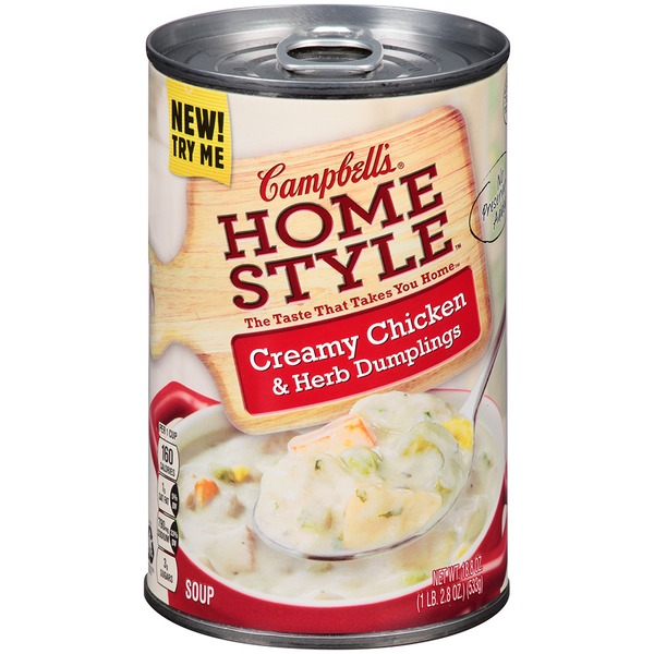 Campbell's Homestyle Creamy Chicken & Herb Dumplings Soup