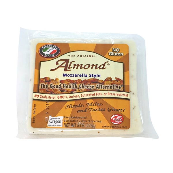 Lisanatti Foods Almond Mozzarella Style Cheese Alternative