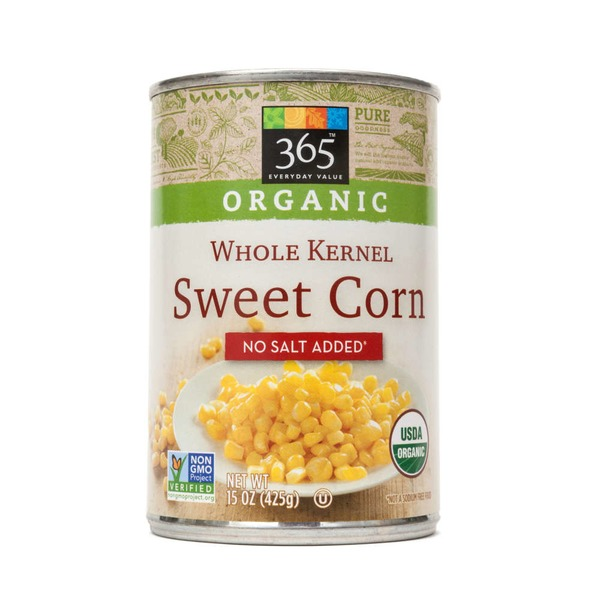 365 Organic Whole Kernel Sweet Corn No Salt Added
