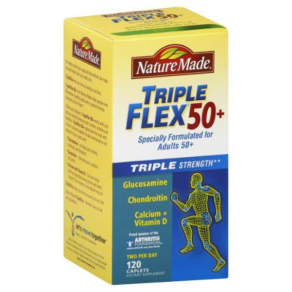 Nature Made Triple Flex 50+ Triple Strength Dietary Supplement- 120 CT