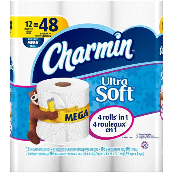 Charmin Ultra Soft Bathroom Tissue, Mega Rolls