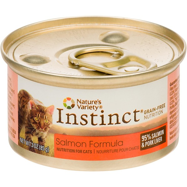 Nature's Variety Instinct Grain Free Salmon Canned Cat Food 3 Oz. Case Of 24