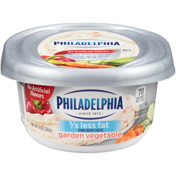 Kraft Garden Vegetable Philadelphia Cream Cheese, 1/3 Less Fat