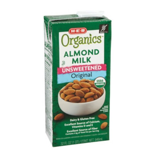 H-E-B Unsweetened Original Organic Almond Milk