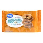Great Value Caramel Coconut & Fudge Cookies, 8.5 oz